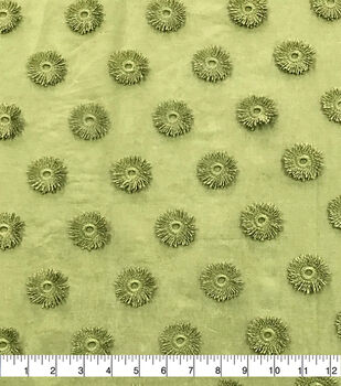 Specialty Cotton 3D Circle Embroidered Fabric-Avocado