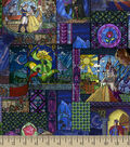 Disney Beauty & The Beast Poplin Fabric - Stained Glass