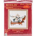 RIOLIS 7.75\u0027\u0027x7.75\u0027\u0027 Counted Cross Stitch Kit-Dachshund Blues