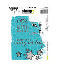 Carabelle Studio Art 4 pk A6 Cling Stamps-Let\u0027s Talk About Cats