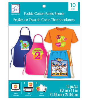 June Tailor 8.5''x11'' Fusible Cotton Fabric Sheet Value Pack