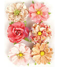 Prima Marketing Love Clippings 6 pk 2\u0027\u0027 Flowers-Together