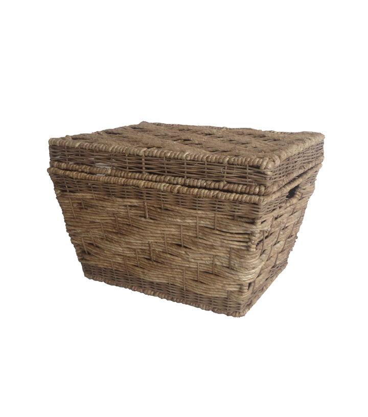 Organizing Essentials Corn Husk Trunk Basket