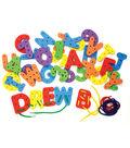 WonderFoam Lacing Letters & Numbers, 2.75\u0022, 36 Pieces