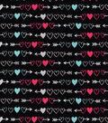Snuggle Flannel Fabric -Arrowed Hearts