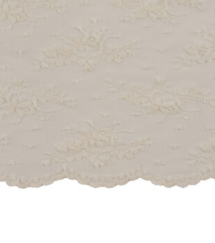 Casa Dahlia Chantilly Lace Fabric-Ivory