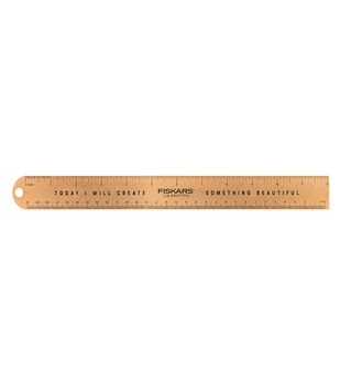 Fiskars Lia Griffith Studio 12'' Metal Craft Ruler-Rose Gold