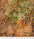 Batik Cotton Fabric-Packed Paisley Orange