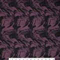 Loungeletics Performance Fabric-Fig & Black Marble