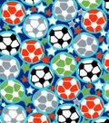 Snuggle Flannel Fabric -Soccer Balls & Stars