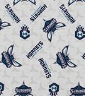 Charlotte Hornets Cotton Fabric -Logo Toss
