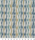 Robert Allen @ Home Upholstery Swatch 56\u0022-Ikat Vines Lagoon