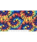 Anti-Pill Fleece Fabric 59\u0022-Tie Dye Exploded Spiral