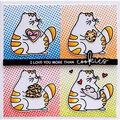 Waffle Flower Crafts Clear Stamps 3\u0027\u0027X4\u0027\u0027-Cookie Love