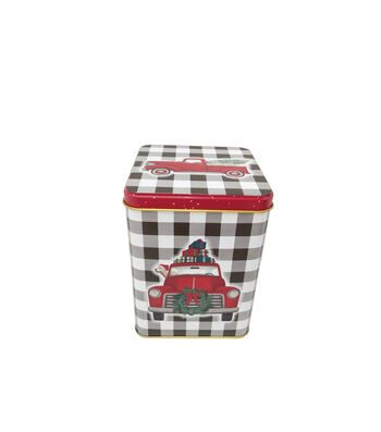 Maker's Holiday Christmas Large Square Canister-Truck