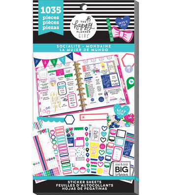 The Happy Planner Girl Value Pack Stickers - Socialite