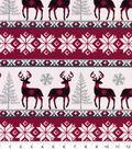Snuggle Flannel Fabric 42\u0022-Buffalo Check Winter Stripe
