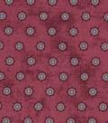 Vintage Cotton Fabric 43\u0027\u0027-Intricate Circles on Red