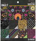 Chalkboard Pattern 6 In X 6 In Paper Pad