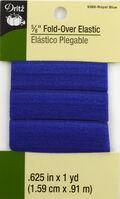 Dritz 5/8\u0022  Foldover Elastic Royal Blue 1Yd