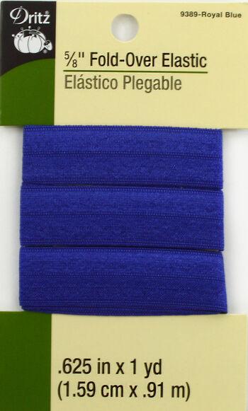 """Dritz 5/8""""  Foldover Elastic Royal Blue 1Yd"""
