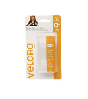 VELCRO Brand Sticky Back for Fabrics 24in x 3/4i n Tape, White