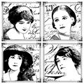 Crafty Individuals Unmounted Rubber Stamp Parisian Beauties