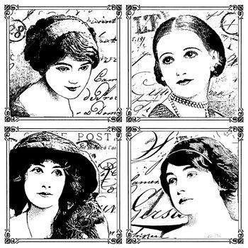 Crafty Individuals Unmounted Rubber Stamp Parisian Beauties