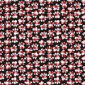 Christmas Cotton Fabric-Paw Prints on Red & Black Plaid