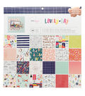 American Crafts Dear Lizzy Lovely Day 12\u0027\u0027x12\u0027\u0027 Paper Pad