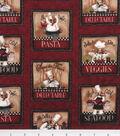 Novelty Cotton Fabric -Chef Panel