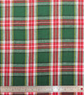 Plaiditudes Brushed Cotton Fabric-Green & Red Tartan Plaid