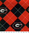 University of Georgia Bulldogs Fleece Fabric 58\u0022-Argyle