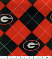"University of Georgia Bulldogs Fleece Fabric 58""-Argyle, , hi-res"