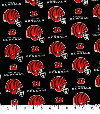 Cincinnati Bengals Cotton Fabric 58''-Helmet Logo