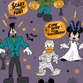 Disney Mickey & Friends Halloween Fleece Fabric-Scare Up Fun