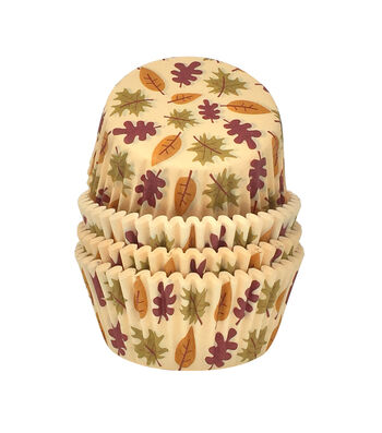 Simply Autumn 150 pk Baking Cups-Leaves