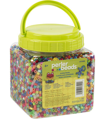 Perler 11,000 pk Activity Beads in Jar-Multi
