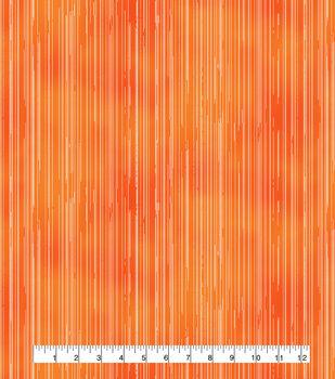 Keepsake Calico Cotton Fabric-Raining Stripes Orange