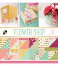 DCWV 36 Pack 12\u0022x12\u0022 Premium Printed Cardstock Stack-Flower Shop