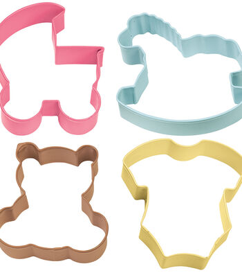 Wilton Metal Cookie Cutter Set-Baby Theme