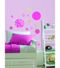 Wall Pops Gone Dotty Pink Green Appliques, 42 Piece Set