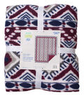 No Sew Fleece Throw 72\u0022-Wine Aztec
