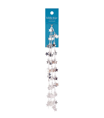 """hildie & jo 18"""" Metal Star Beads on Silver Chain"""
