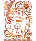 Stamperia Stencil G 8.27\u0022X11.69\u0022-Take Your Time