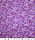 Premium Quilt Cotton Fabric-Purple Thumbprint Squares