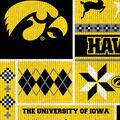Iowa Hawkeyes Fleece Fabric-Sweater