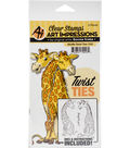 Art Impressions Twist Ties Stamp & Die Set-Giraffe