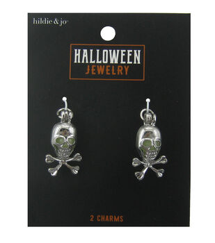 hildie & jo Halloween Charms-Skull Silver