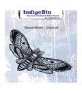 IndigoBlu Cling Mounted Stamp 5\u0022X8\u0022-Giant Moth -Clarice